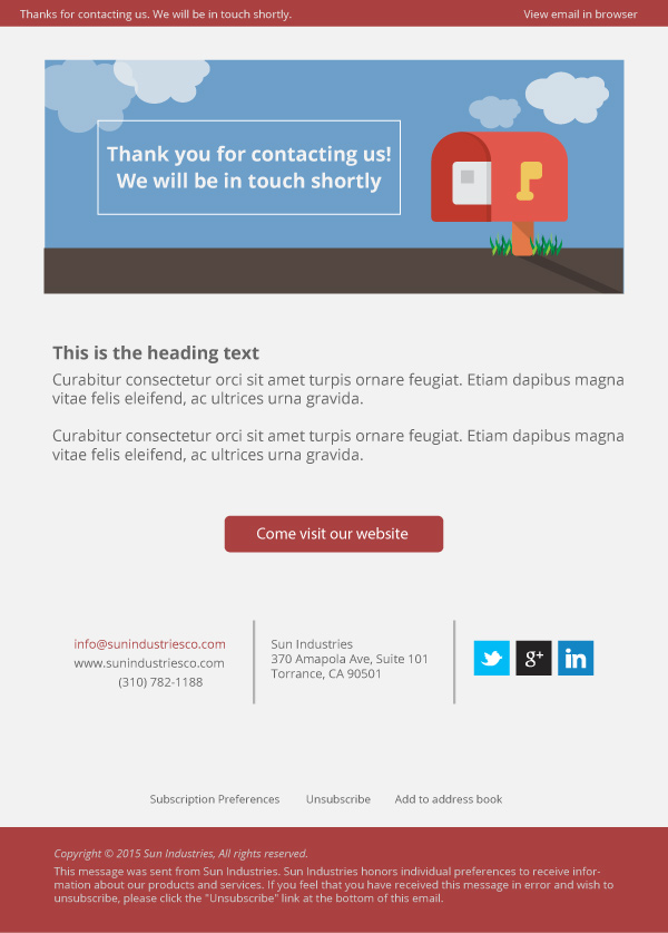 Reply E-mail Template | Michael Persaud